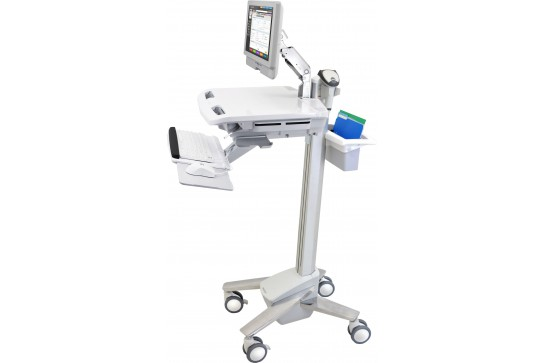 Electronic Medical Record Cart with LCD Arm